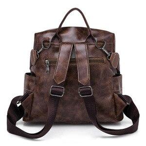 Image 3 - Women Vintage Backpacks Multi function High Quality Leather Backpack For Girls Large Female Bag School Shoulder Bags 2020 XA266H