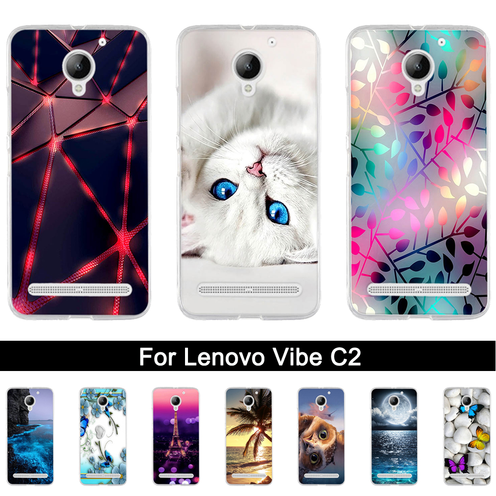 <font><b>Case</b></font> For <font><b>Lenovo</b></font> Vibe <font><b>C2</b></font> Cover Soft Silicone Fundas For <font><b>Lenovo</b></font> C 2 <font><b>K10a40</b></font> 5.0 inch Back <font><b>Phone</b></font> <font><b>Case</b></font> for <font><b>Lenovo</b></font> vibe <font><b>c2</b></font> Power <font><b>Case</b></font> image