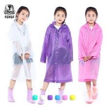FGHGF Ева прозрачный Мода из матовой кожи, детский дождевик для мальчиков и девочек плащи на открытом воздухе Пеший Туризм Путешествие дождь снаряжение, куртка для детей