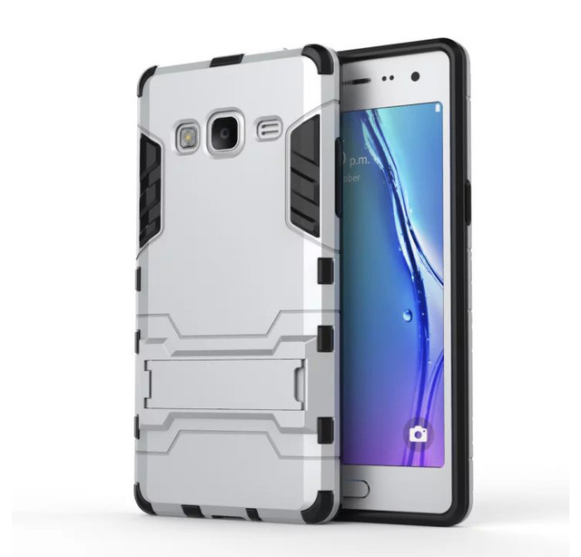 For Samsung Tizen Z3 PC Silicone Dual Layer Shield 3D Armor Case SAMSUNG
