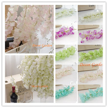 50PCS Artificial Silk Wisteria Flower For DIY Wedding Arch Square Rattan Simulation Flowers Wall Hanging Basket Can Be Extension