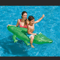 kids swimming water toys crocodile mounts floating buoys inflatable animals Air Mattress Floating Island Water outdoor and Fun