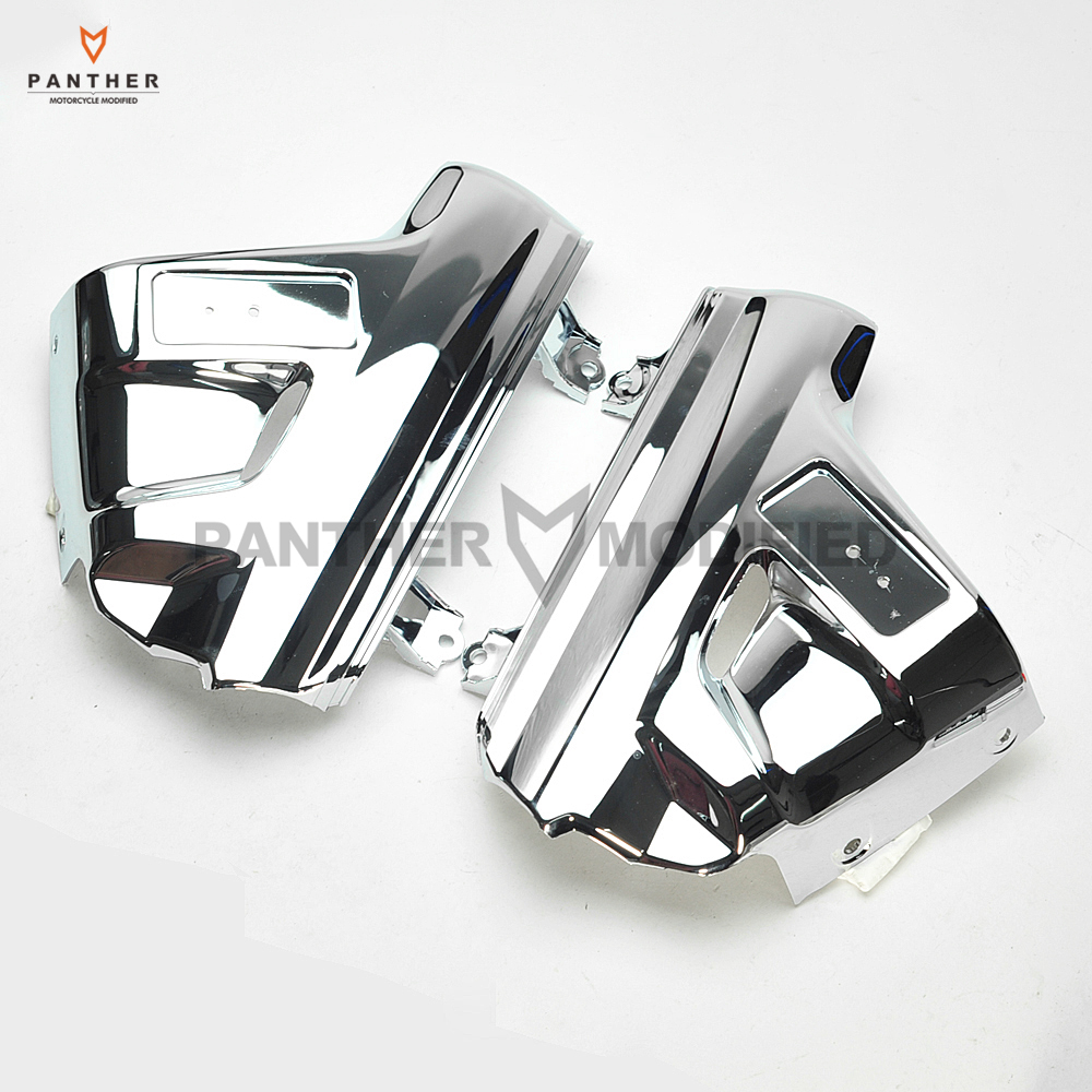 Chrome Motorcycle Front Fender Cover Moto Mudguard Frame Decoration case for Honda GL1800 GOLDWING 2001 2002 2003 2004 2005 cnc aluminum chrome motorcycle crankcase valve cover cylinder case for honda gl1800 goldwing 2001 2017 2002 2003 2004 2005