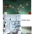 Популярная современная люстра в скандинавском стиле с несколькими лампами  подвесная лестница  стеклянный шар для гостиной  лестницы  QJ888  ...