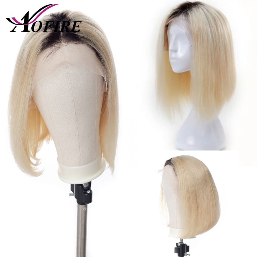 1B 613 Blonde Short Bob Lace Front Human Hair Wigs Pre Plucked With Baby Hair 150
