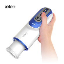 LETEN Retractable heatable Male Masturbator sex moaning Automatic Sex Machine Thrusting Piston pocket pussy Sex Toys for Men