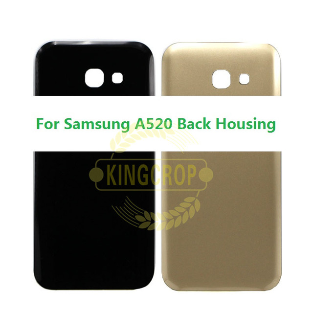 official photos 6087e 220a6 For SAMSUNG A5 2017 LCD A520 A520F Back Battery Cover Door Rear Glass  Housing Case For SAMSUNG A5 2017 Battery Cover-in Mobile Phone Housings  from ...