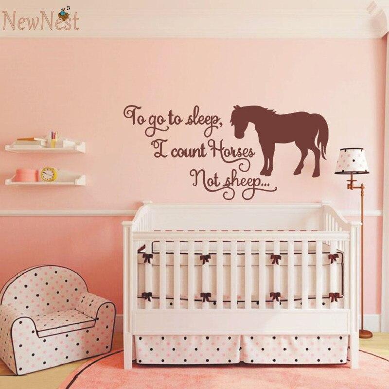 To go to sleep i count horses not sheep horse themed wall for Stickers habitacion bebe