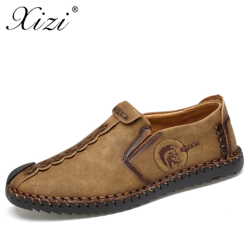 3854699f70b XIZI 2018 New Comfortable Casual Shoes Men Slip-On Shoes Quality Microfiber  Leather Shoes Men Flats Soft Loafers Moccasins Shoes
