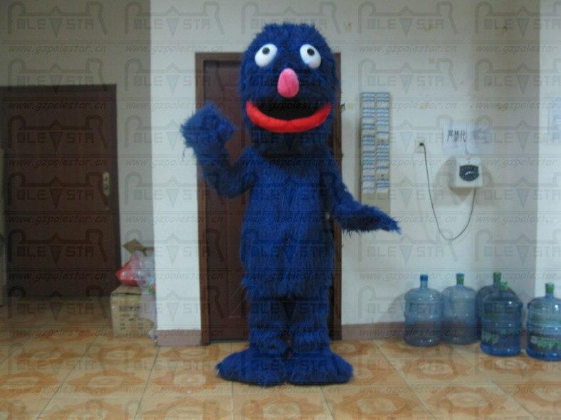 ЭРНИ талисман костюмы длинные голубые волосы элмо друг талисман костюмы
