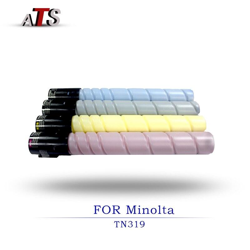 1PCS photocopier fitting Toner Cartridge For Konica Minolta TN319 Bizhub C360 Compatible Toner Powder copier Photocopy parts 1pcs compatible developer for minolta 7020 7022 7030 7130 7025 copier parts