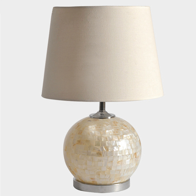 Tuda 30x52cm free shipping ceative round table lamp shell table lamp tuda 30x52cm free shipping ceative round table lamp shell table lamp beige fabric lampshade table lamp aloadofball Images