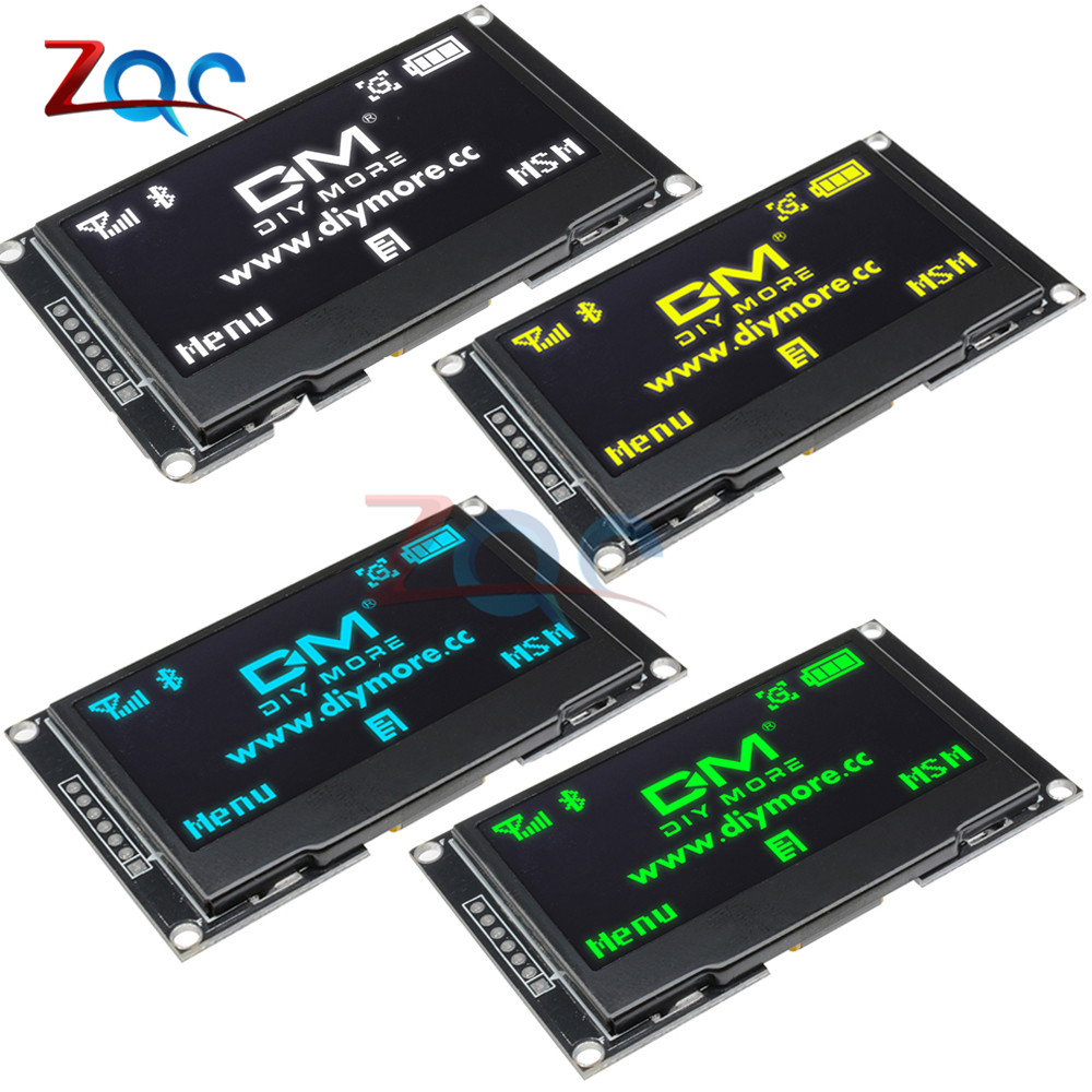 2,42 pulgadas LCD pantalla 12864 Módulo de pantalla OLED CII I2C SPI serie C51 STM32 SSD1309 para Arduino 128X64/Blanco/azul/Verde/amarillo