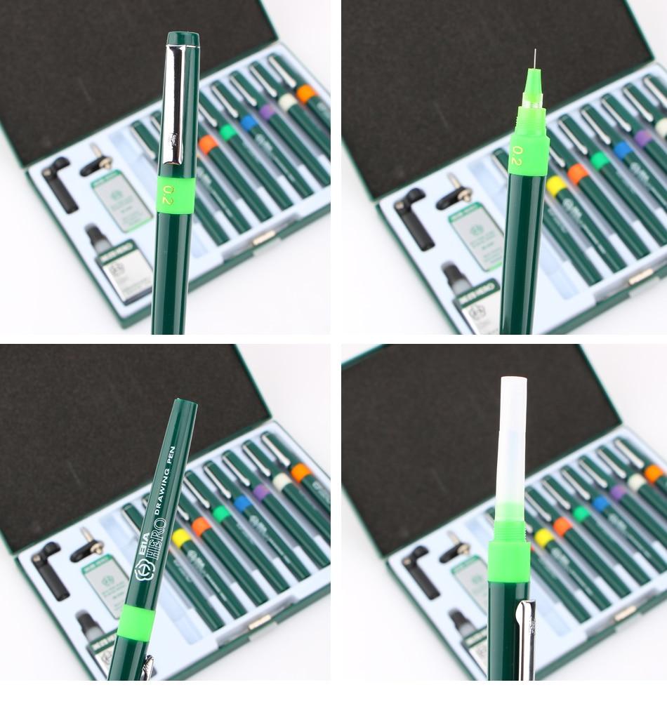9 pçs agulha caneta técnica gancho linha
