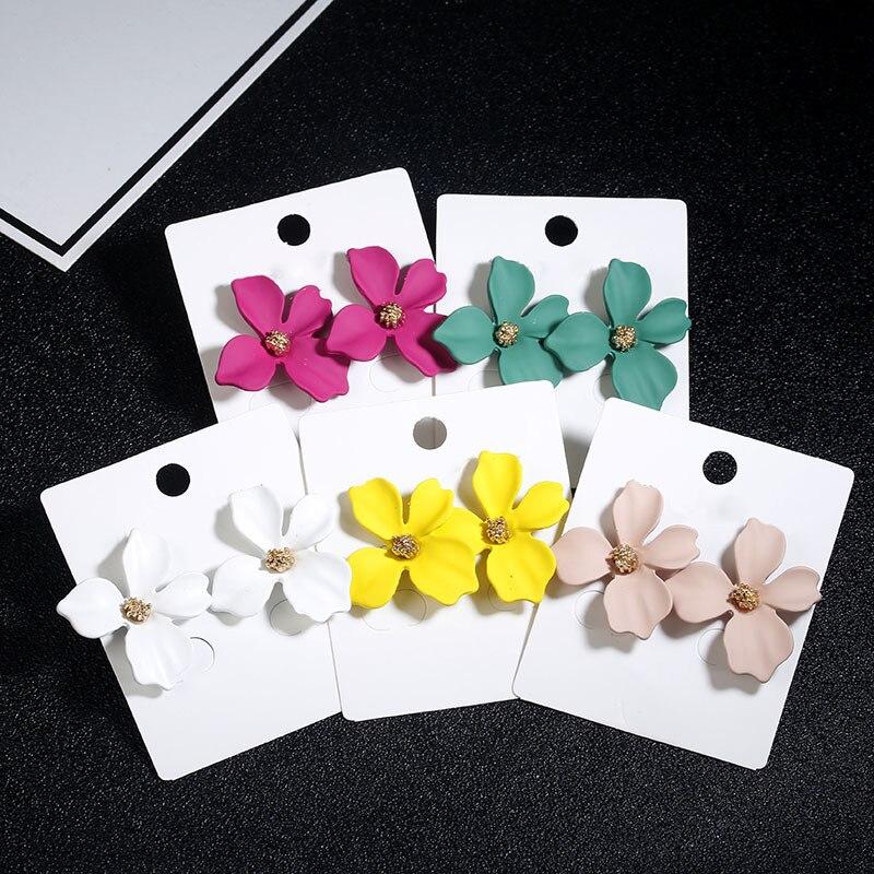 Bohemia earrings boucles d oreille femme kolczyki stud damskie jewelry Korean earings fashion blue flower pendientes rojos cute