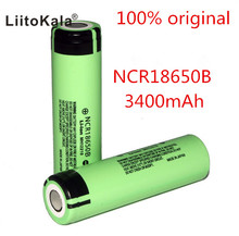 2PCS Liitoakala 100% Original 3.7V NCR 18650B 3400mAh Rechargeable Batteries 18650 Battery/Power Bank/Flashlight