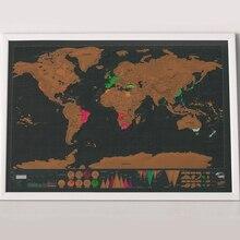 42*30 см Роскошная стираемая черная карта мира Скретч Карта мира персонализированные дорожные царапины для карты комнаты украшения дома стикер на стену