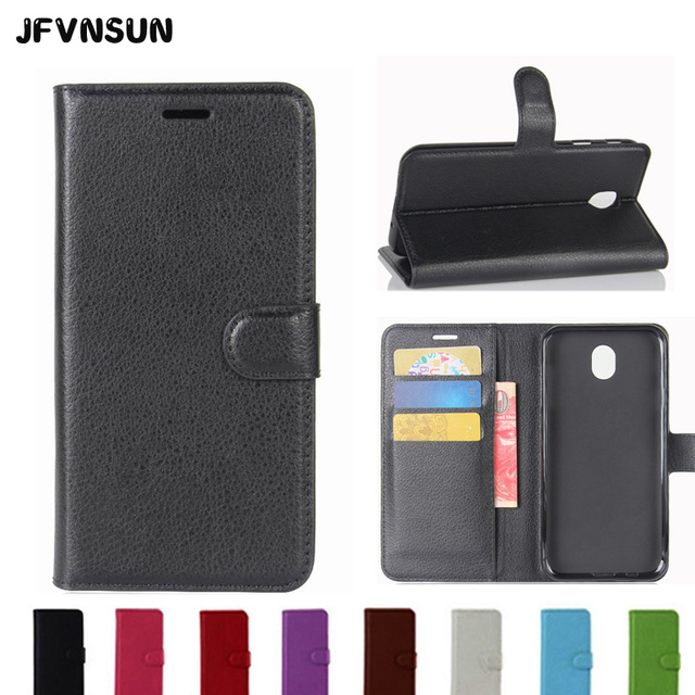478c53432f9 JFVNSUN Fashion Leather Case For SAMSUNG Galaxy J5 2017 J530 J5 PRO  Magnetic Flip Cover Stand Wallet Case Card Slot Cover