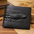 Fashion Famous Brand Men Wallets Genuine Cowhide Leather Men's Wallet Alligator Small Purse For men With Crocodile Embossing