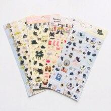 1 шт. Kawaii Little Black Cat Blingbling декоративные наклейки альбом-ежедневник декор для телефона для бутылок DIY этикетка-наклейка