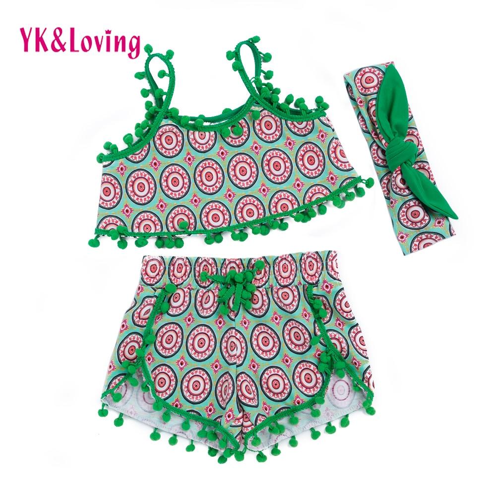Παιδικά ρούχα σετ Ethnic στυλ Μόδα κορίτσι φούντα καλοκαιρινά ... 8d83163ce3b