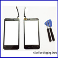 Original New Black  For Ark Benefit M4 Touch Screen Digitizer Glass Front Sensor Outer Lens Touch Panel  +3M Adhesive +Tools