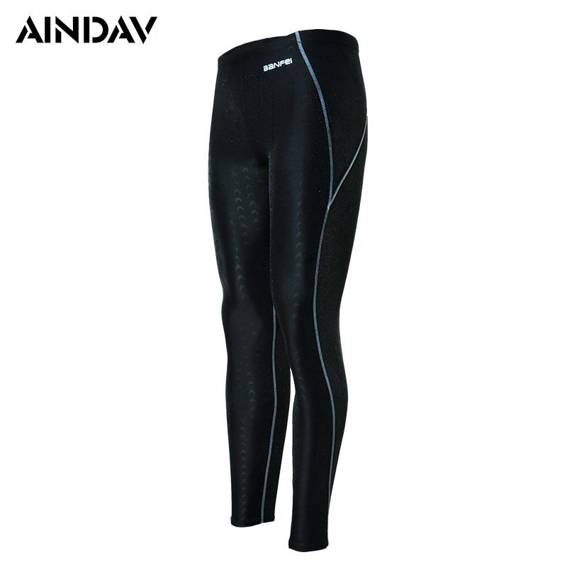 Swimwear Swimming-Trunks Sport Sharkskin Water-Repellent Long-Leg Men's Plus-Size Sunga