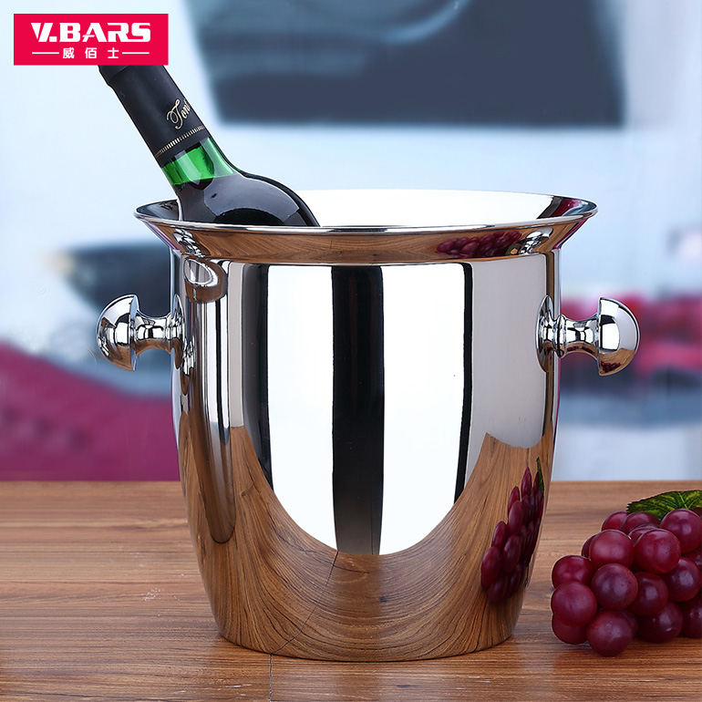 good quality red wine ice pail cooler box thickening stainless steel champagne bucket big Small ice bucket wine cooler