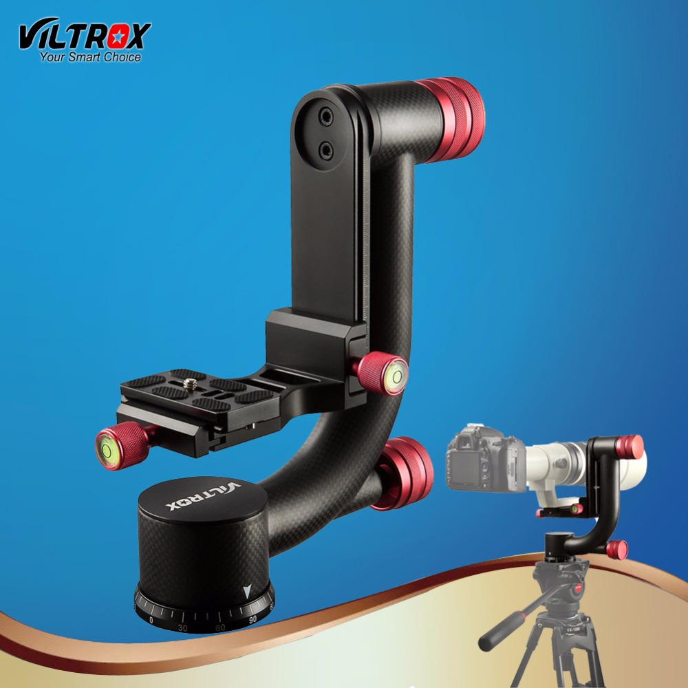 Viltrox Professional Carbon Fiber Panoramic Gimbal Clamp 1/4 Tripod Ball Head Stabilizer 360 Degree Swivel+Quick Release plate aluminum gimbal swivel tripod ball head ball head with quick release plate 1 4 screw 36mm large sphere panoramic photos