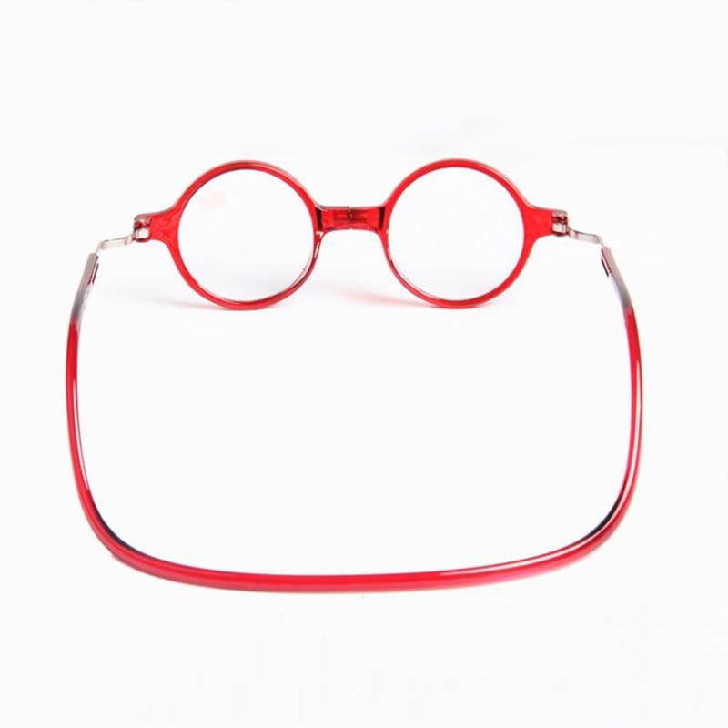 GLAUSA Magnetic Round Square Frame Halter Reading Glasses Women&Male Portable Hanging Neck Presbyopia Glasses Eyewear For Elder