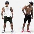 2016 Новый мужской Короткий homme Gymshark Спортивные Шорты мужчины бермудские Повседневная марка одежды Письмо Эластичный Пояс Спортивных Залов Шорты