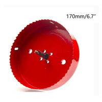 170mm/6.7 Diameter Hole Saw Bi Metal Drilling Cutter Wood Iron Hole Saw Cutter Corn Hole Drilling Cutter Tool