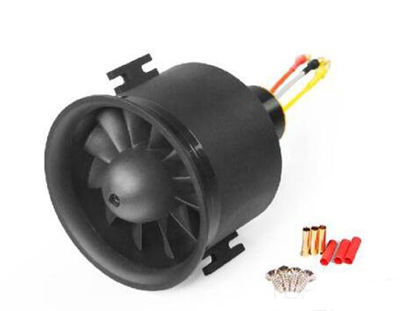 70MM Ducted Fan with 12 Blade Propeller Inrunner Brushless <font><b>6s</b></font> <font><b>Motor</b></font> E7218 With 80A ESC Electric Speed Controller image