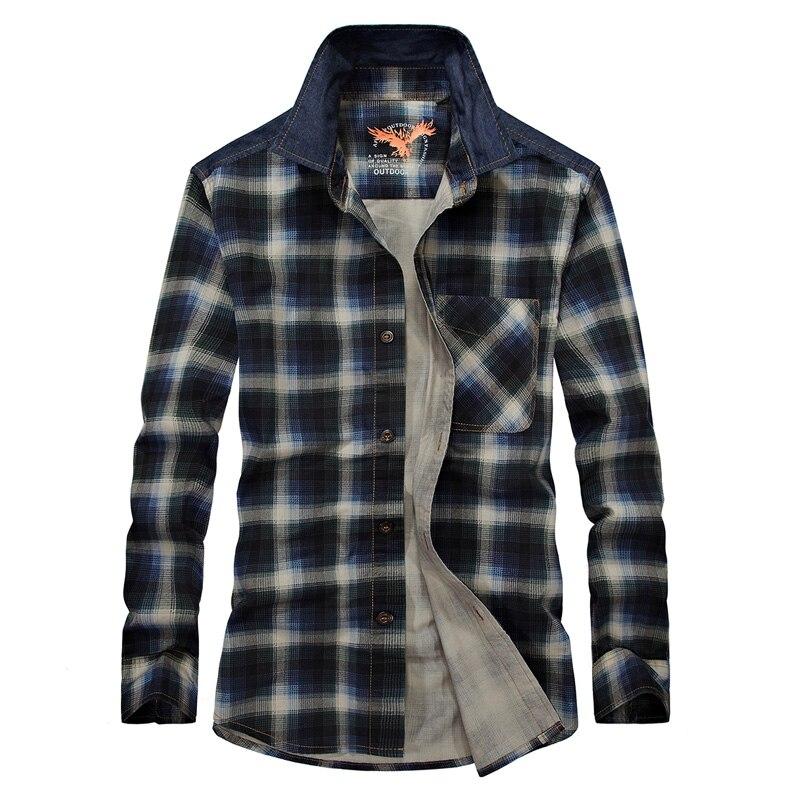 2017 Neue Plaid Shirts Männer Langarm Ursprüngliche Marke Casual Plaid-kleid Für Frühling Herbst Military Style Mens Shirts Mit Einem LangjäHrigen Ruf