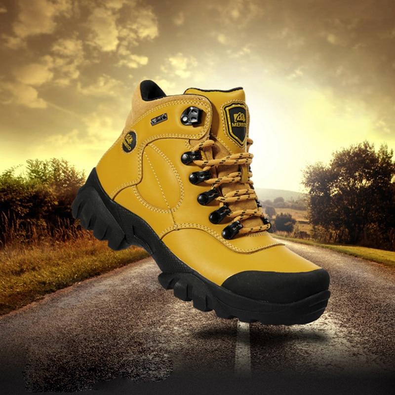 MERRTO Women Walking Shoes Athletic Shoes Walking Trail Woman light Sneakers Mountain Waterproof Leather Shoes Outdoor Sports купить