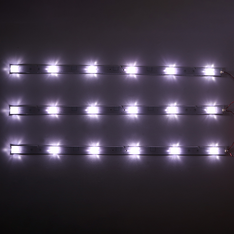 9piece/lot FOR  32 Inch 6 Lamp  LED Light Bar Hisense LCD TV LED Backlight Aluminum Substrate Light Strip 6V 6 Light 57CM