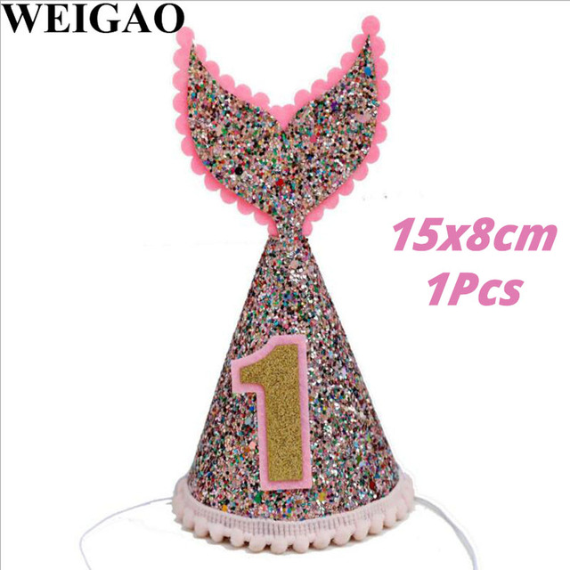 1Pcs Hat Mermaid party plates 5c64f5cb314ca