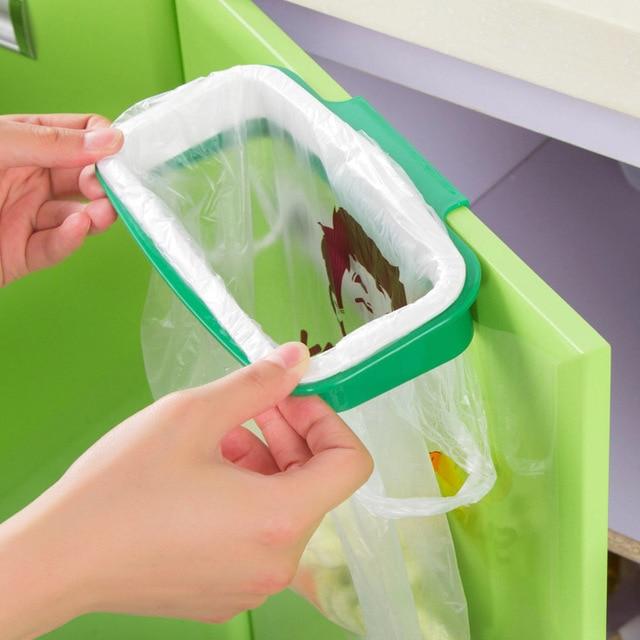 Garbage Bag Stand Litter Bag Holder Rack Storage Sink Bag Holder Kitchen  Cabinet Hanging Trash Can