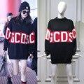 Moda inverno gcds moletom com capuz camisola dos homens das mulheres lettering italy marca clothing gcds crewneck mistura de lã pullover de grandes dimensões