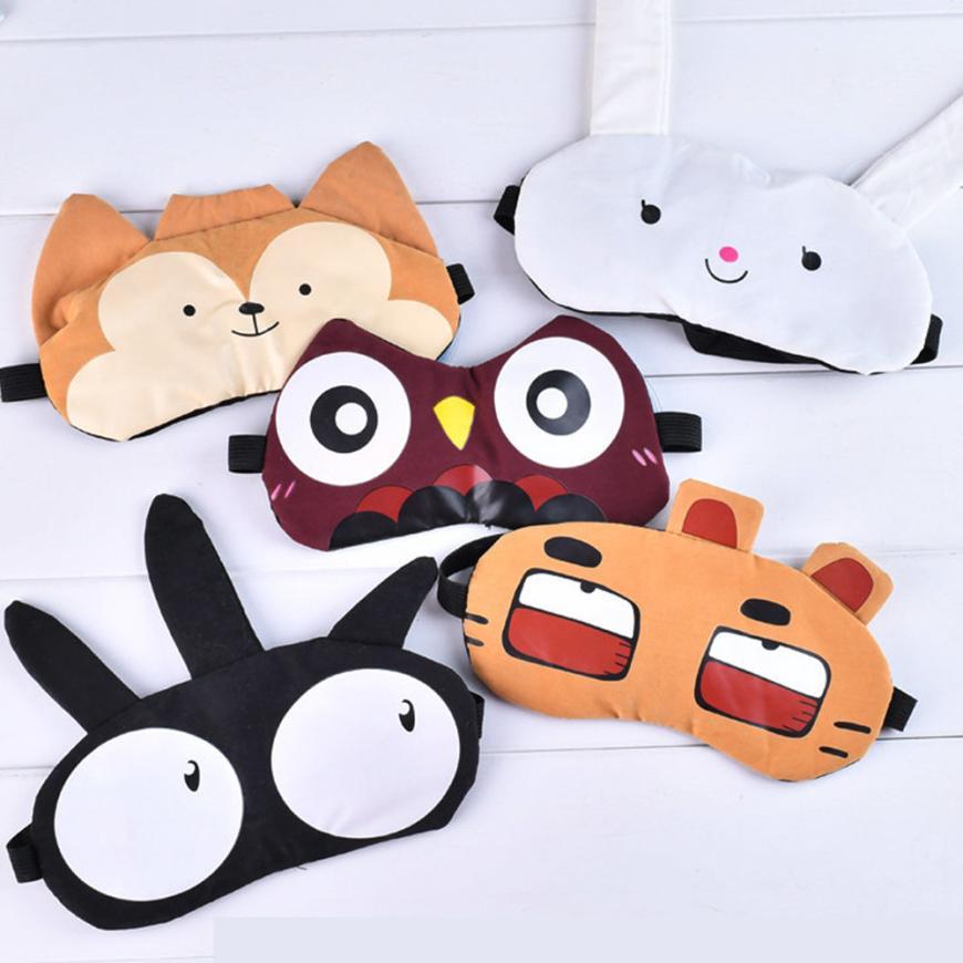 Cute Eye Mask Soft Padded Sleep Travel Shade Cover Eye mask 5