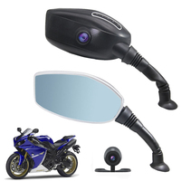 1080P HD Wide Angle 2.7 Inch Motorcycle Camera Car Dvr Dash Cam For Motorcycle Rearview Mirror Camera Video Recorder