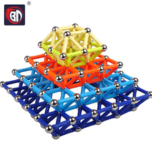 BD 100/150/200pcs Magnet Bars Metal Balls Kids Magnetic Building Blocks Construction Educational Toys Intelligence Toy Creation
