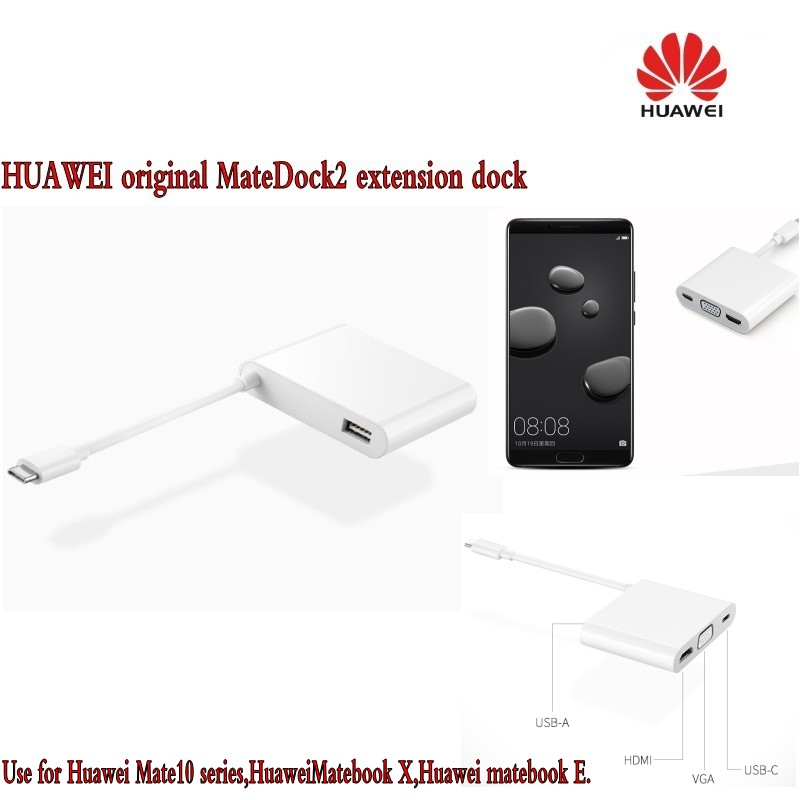 HUAWEI originele MateDock2 extension dock Mate10 Pro MateBook notebook Type C converter