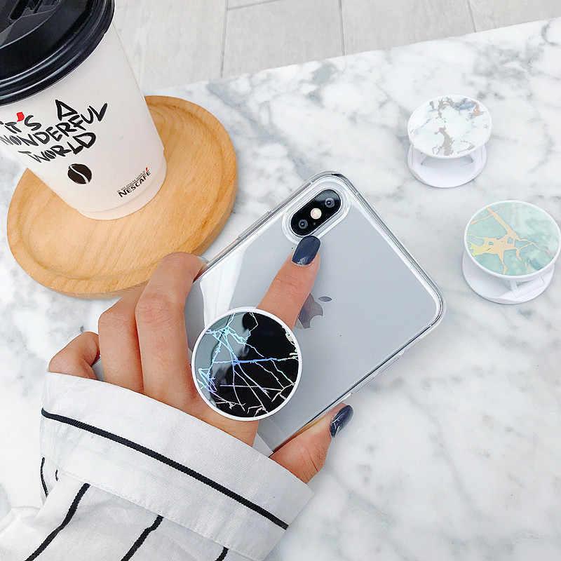Parlak Popüler Mermer Genişleyen telefon standı Kavrama Parmak Rring Desteği Anti-Sonbahar Yuvarlak Katlanabilir Cep telefon tutucu Samsung