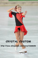 Hot Sales Ice Figure Skating Dresses Fashion New Brand Competition Child Figure Skating Dress Crystal DR3689