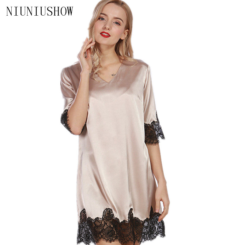 Summer New Style Sexy Solid Womens Kimono Yukata Bath Rayon Nightgown Lace Sleeve Charming Robes Sleepshirts One Size