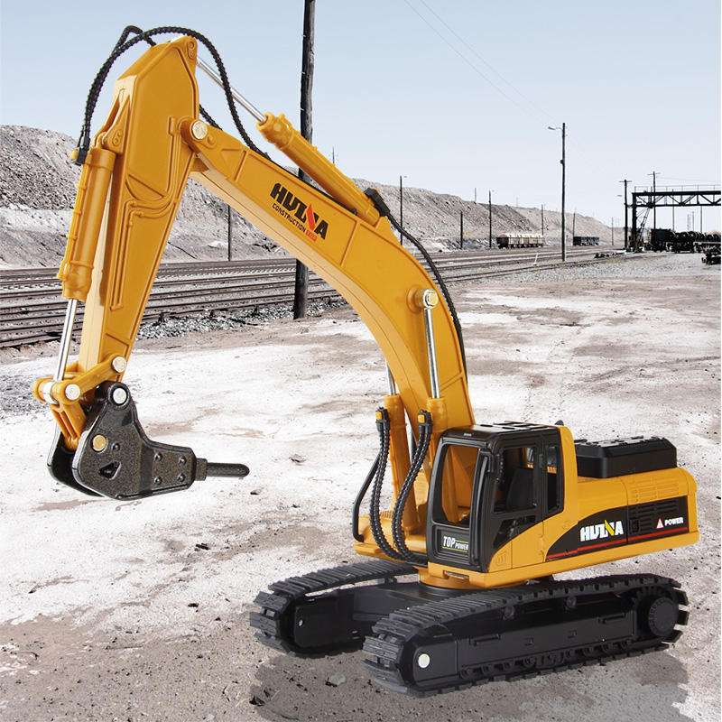 high simulation alloy engineering vehicle model 1: 50 alloy excavator toys vehicle with metal casting for boys cooling birthday