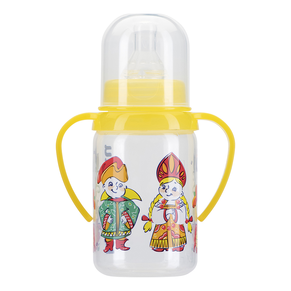 Bottles KURNOSIKI for girls and boys 11109 Bottle Feeding Cup Baby With straw plastic bottle 30ml pet clear bottle empty pet bottles e liquid e cig plastic dropper bottles with childproof cap