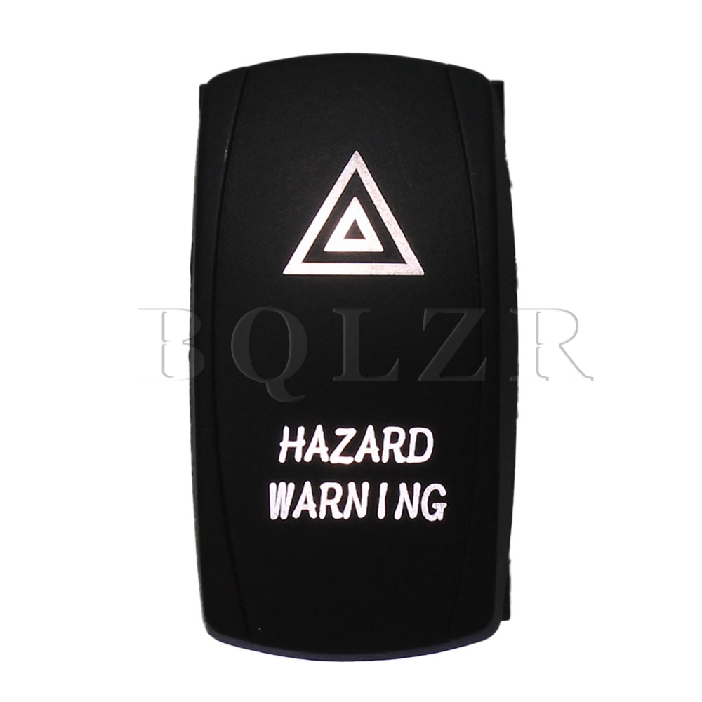 BQLZR 5pin Waterproof IP68 Hazard Warning White Light ON-OFF Car Boat Rocker Switch bqlzr dc12 24v black push button switch with connector wire s ot on off fog led light for toyota old style