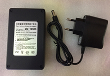MasterFire High Quality DC 12V 3000mAh 12300 Super Portable Rechargeable Lithium-ion Battery Batteries With Black Case
